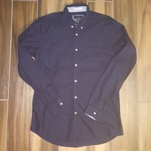 Zara Fancy Oxford Slim Fit Dress Shirt
